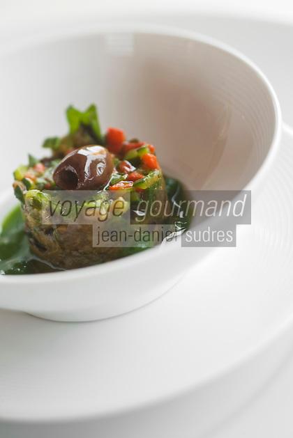 Europe/France/Aquitaine/33/Gironde/Bordeaux/Lormont: Tartare de légume recette de  Jean-Marie AMAT  restaurant : Le Prince Noir