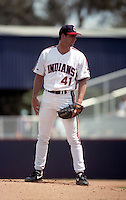 Cleveland Indians pitcher Charles Nagy (41) during Spring Training 1993 at Chain of Lakes Park in Winter Haven, Florida.  (MJA/Four Seam Images)