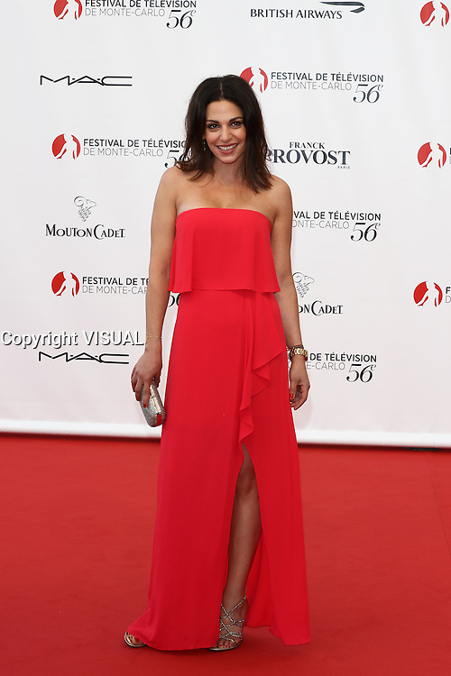 56th Monte-Carlo Television Festival opening red carpet. Noemie Elbaz.