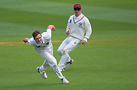 Will Williams attempts a runout off his own bowling during day three of the Plunket Shield match between the Wellington Firebirds and Canterbury at Basin Reserve in Wellington, New Zealand on Wednesday, 21 October 2020. Photo: Dave Lintott / lintottphoto.co.nz