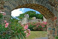 Caneel Bay Ruins.Caneel Bay Resort.Virgin Islands National Park.St. John, U. S. Virgn Islands