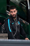Arda Turan arrives at the team hotel the day before UEFA Champions League match between Atletico de Madrid and FC Barcelona at Hotel Eurostars in Madrid. April 13, 2016. (ALTERPHOTOS/Borja B.Hojas)