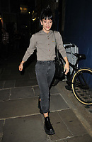 """Lily Allen at the """"2:22  - A Ghost Story"""" theatre evening performance departures, Noel Coward Theatre, St Martin's Lane, on Saturday 11th September 2021 in London, England, UK. <br /> CAP/CAN<br /> ©CAN/Capital Pictures"""