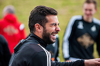 Tuesday 19 April 2016<br /> Pictured: Jordi Amat of Swansea City during training.<br /> Re: Swansea City Training Session ahead of the away game against Leicester City FC