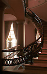 A young George Washington bust in window  with winding stairs in mansion Commonwealth of Virginia, Fine Art Photography by Ron Bennett, Fine Art, Fine Art photography, Art Photography, Copyright RonBennettPhotography.com ©