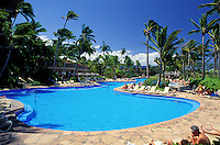 Pool at Hilton Waikaloa village resort on the Big Island of Hawaii