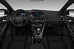 Stock photo of straight dashboard view of 2017 Ford Focus RS 5 Door Hatchback Dashboard