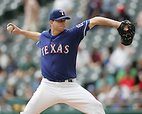 Texas Rangers P Scott Feldman against the Seattle Mariners on May 14th, 2008 at Texas Rangers Ball Park in Arlington, Texas. Photo by Andrew Woolley .