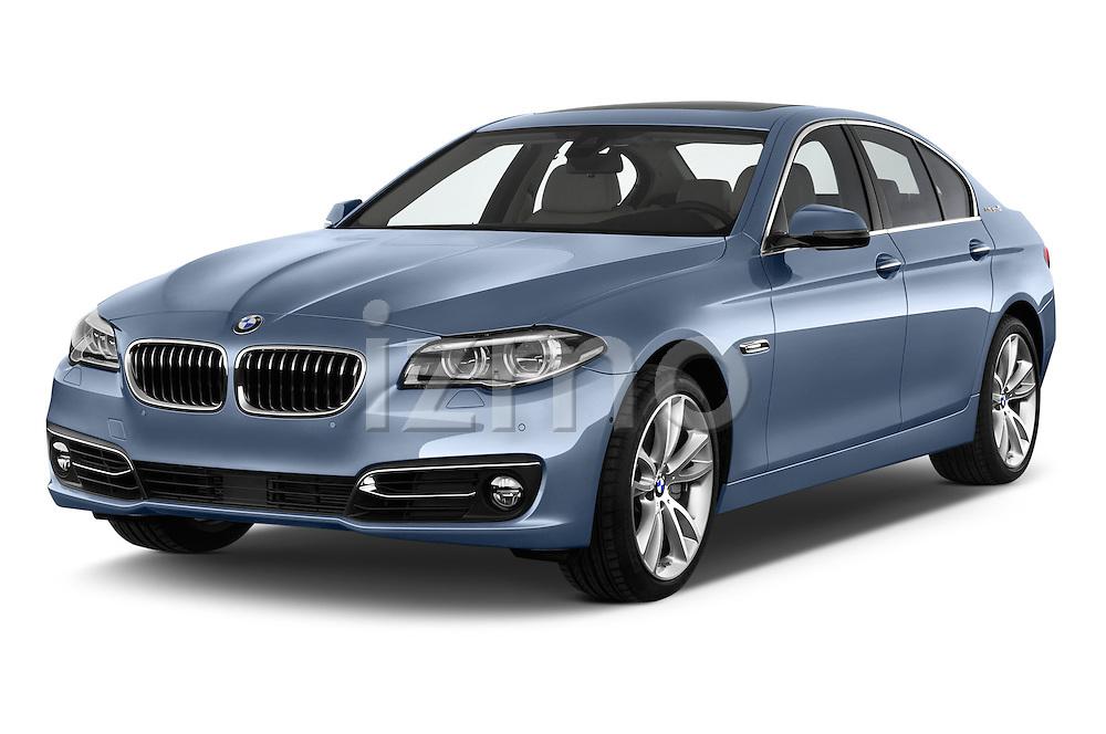 2015 BMW SERIES 5 ActiveHybrid 5 Luxury 4 Door Sedan Angular Front stock photos of front three quarter view