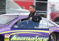 Feb 11, 2017; Pomona, CA, USA; NHRA top sportsman driver Paul Mitsos during the Winternationals at Auto Club Raceway at Pomona. Mandatory Credit: Mark J. Rebilas-USA TODAY Sports