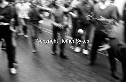 Hurling the Silver Ball. St Columb, Cornwall 1972. Shrove Tuesday and the second Saturday following. The game is played between two teams comprising of Townsmen and Countrymen. Traditionally the ball is hurled for the first hour in town.