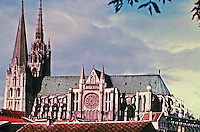 Chartres Cathedral, also known as the Cathedral of Our Lady of Chartres, is a Roman Catholic church in Chartres, France and is the seat of the Bishop of Chartres. Opened in 1252. UNESCO site.