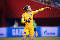 MONTREAL, Canada - Saturday June 13, 2015: Costa Rica ties Korea Republic 2-2 in Group E at the Women's World Cup Canada 2015 at Olympic Stadium in Montreal, Quebec, Canada.