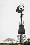 Windmill and water tank, Hornitos, Calif.