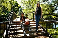 Kathy Drysdale, Director of Marketing at Penn State University, and her son Dereck Lively II, pose for a portrait at Talleyrand Park on Monday June 14, 2021 in Bellefonte, Ohio. (Photo by Jared Wickerham/For The New York Times)