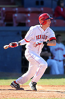 Illinois State Redbirds third baseman Brock Stewart #15 during a game vs. the Ohio State Buckeyes at Chain of Lakes Park in Winter Haven, Florida;  March 11, 2011.  Illinois defeated Ohio State 12-1.  Photo By Mike Janes/Four Seam Images