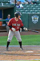 Nick Dini (51) of the Idaho Falls Chukars at bat against the Ogden Raptors in Pioneer League action at Lindquist Field on September 3, 2016 in Ogden, Utah. The Chukars defeated the Raptors 3-0. (Stephen Smith/Four Seam Images)