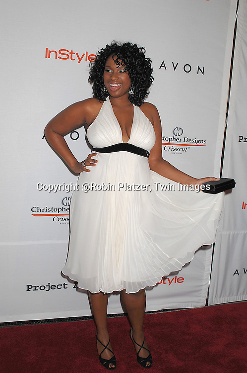 Jennifer Hudson in Carmen Marc Valvo dress..posing for photographers at The Project ALS 10th Anniversary  celebration on October 16, 2007 at ..The Waldorf Astoria in New York. ..Robin Platzer, Twin Images....212-935-0770