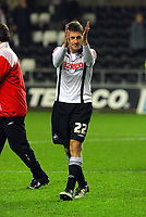 ATTENTION SPORTS PICTURE DESK<br /> Pictured: Angel Rangel of Swansea City in action <br /> Re: Coca Cola Championship, Swansea City Football Club v Plymouth Argyle at the Liberty Stadium, Swansea, south Wales. Tuesday 08 December 2009