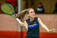 Wateringen, The Netherlands, December 8,  2019, De Rhijenhof , NOJK juniors 14 and18 years, Finals  girls 14 years  Annelin Bakker (NED)<br /> <br /> Photo: www.tennisimages.com/Henk Koster