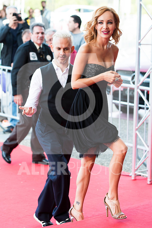 "British actor Dominic Monaghan and canadian actress Ksenia Solo attends to the red carpet of the presentation during the presentation of the film  ""Pet"" at Festival de Cine Fantastico de Sitges in Barcelona. October 11, Spain. 2016. (ALTERPHOTOS/BorjaB.Hojas)"