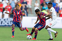 KANSAS CITY, KS - JULY 18: Cristian Roldan #10 of the United States during a game between Canada and USMNT at Children's Mercy Park on July 18, 2021 in Kansas City, Kansas.