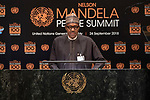 Opening Plenary Meeting of the Nelson Mandela Peace Summit<br /> <br /> Nigeria