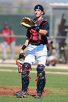 Minnesota Twins minor league catcher Michael Quesada during a game vs. the Boston Red Sox in an Instructional League game at Lee County Sports Complex in Fort Myers, Florida;  October 1, 2010.  Photo By Mike Janes/Four Seam Images