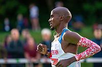 5th June 2021; Birmingham University Athletics Track, Birmingham, Midlands, England; European 10000 Metre Finals, British Olympic Trials 10000 Metre; Mo Farah in the lead pack with 8 laps to go