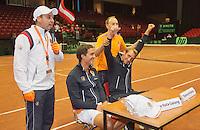 14-sept.-2013,Netherlands, Groningen,  Martini Plaza, Tennis, DavisCup Netherlands-Austria, Doubles,  Kids press-conference<br /> Photo: Henk Koster