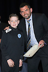 St Johnstone FC Youth Academy Presentation Night at Perth Concert Hall..21.04.14<br /> Callum Davidson presents to James O'Connor<br /> Picture by Graeme Hart.<br /> Copyright Perthshire Picture Agency<br /> Tel: 01738 623350  Mobile: 07990 594431