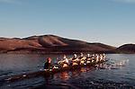 Rowing, US National Men's eight, workout, ARCO Olympic Training Center, Otay Lake, Chula Vista, California, 1996, .