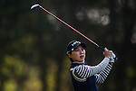 Hyo-Joo Kim of Korea of Korea plays a shot during the Hyundai China Ladies Open 2014 at World Cup Course in Mission Hills Shenzhen on December 13 2014, in Shenzhen, China. Photo by Xaume Olleros / Power Sport Images