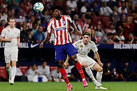 Thomas Teye of Atletico de Madrid and Fede Valverde  of Real Madrid during La Liga match between Atletico de Madrid and Real Madrid at Wanda Metropolitano Stadium{ in Madrid, Spain. {iptcmonthname} 28, 2019. (ALTERPHOTOS/A. Perez Meca)<br /> Liga Spagna 2019/2020 <br /> Atletico Madrid - Real Madrid <br /> Foto Perez Meca Alterphotos / Insidefoto <br /> ITALY ONLY