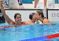 August 04, 2012..Ranomi Kromowidjojo reacts after winning Women's 50m Freestyle Final at the Aquatics Center on day eight of 2012 Olympic Games in London, United Kingdom.