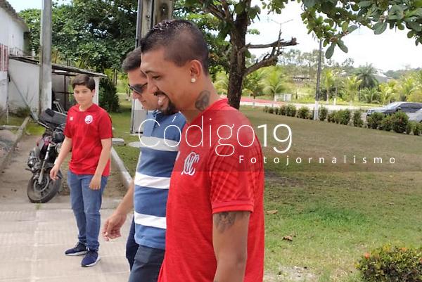 Recife (PE), 10/01/2020 - Naútico-Futebol - O jogador Kiesa foi apresentando no Naútico na manhã desta sexta-feira (10) no CT Wilson Campos em Recife.