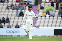 Devon Conway, New Zealand acknowledges his half century during India vs New Zealand, ICC World Test Championship Final Cricket at The Hampshire Bowl on 20th June 2021