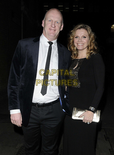 LONDON, ENGLAND - NOVEMBER 30: Iain Dowie & guest at the Emeralds & Ivy Ball, Old Billingsgate, Old Billingsgate Walk, on Saturday November 30,  2013 in London, England, UK.<br /> CAP/CAN<br /> ©Can Nguyen/Capital Pictures