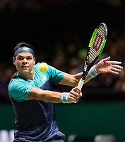 Rotterdam, The Netherlands, 13 Februari 2019, ABNAMRO World Tennis Tournament, Ahoy, Milos Raonic (CAN)<br /> Photo: www.tennisimages.com/Henk Koster