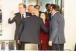 Juan Vicente Herrera, Pablo Casado and Soraya Saenz de Santamaria during the meeting with the national executive committee of Partido Popular at Genova in Madrid. May 03, 2016. (ALTERPHOTOS/Borja B.Hojas)
