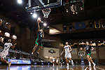SIOUX FALLS, SD - MARCH 7: Tyree Ihenacho #4 of the North Dakota Fighting Hawks lays the ball up against the Oral Roberts Golden Eagles during the Summit League Basketball Tournament at the Sanford Pentagon in Sioux Falls, SD. (Photo by Richard Carlson/Inertia)