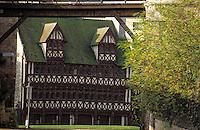 Europe/France/Normandie/Basse-Normandie/14/Calvados/Caen: La maison de Jean Quatrans notaire au XIVème siècle - Maison aux pans de bois restaurée après 1944