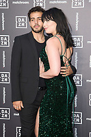 Daisy Lowe and partner, Jordan<br /> arrives for the Dazn x Matchroom VIP Launch Event at the German Gymnasium Kings Cross, London<br /> <br /> ©Ash Knotek  D3569  27/07/2021