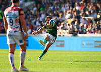 9th October 2021; Brentford Community Stadium, Brentford, London; Gallagher Premiership Rugby, London Irish versus Leicester Tigers; Paddy Jackson of London Irish scores with a conversion kick