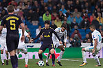 Heung-Min Son of Tottenham Hotspur FC (C) in action during the UEFA Champions League 2017-18 match between Real Madrid and Tottenham Hotspur FC at Estadio Santiago Bernabeu on 17 October 2017 in Madrid, Spain. Photo by Diego Gonzalez / Power Sport Images
