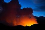 Halema'uma'u eruption, Hawai'i Volcanoes National Park, Hawaii, USA<br /> <br /> Canon EOS R5, EF24-70mm f/4L IS USM lens, f/4.5 for 1/30 second, ISO 2000