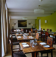 The dining room of the restaurant newly opened at The Peacock Inn on the Haddon estate