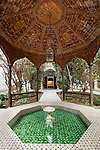 Morocco, Marrakech: Dar Si Said museum housing the very quintessence of Moroccan art, showing courtyard and pool | Marokko, Marrakesch: Dar Si Saïd Museum fuer Marokkanische Kunst, Innenhof und Pool