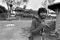 - Nicaragua, soldiers of Sandinista army in Rama town<br /> <br /> - Nicaragua, militari dell'esercito sandinista nella città di Rama