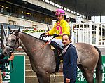 ELMONT, NY -MAY 12: A Raving Beauty,#6, ridden by Irad Ortiz Jr., wins the Beaugay Stakes on  at Belmont Park on May 12, 2018 in Elmont, New York. (Photo by Lynn Hildenbrand/Eclipse Sportswire/Getty Images)